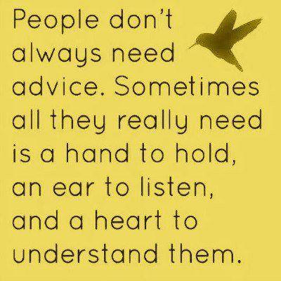 no advice needed