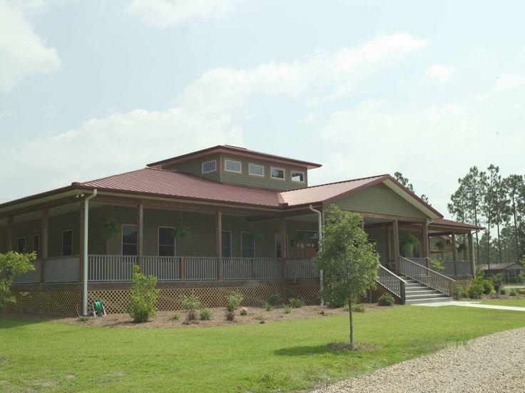 Morton buildings raised porch dream home pinterest for Cheap house wrap