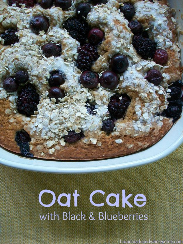 Oat Cake with Black & Blueberries | Recipe Box - Desserts | Pinterest