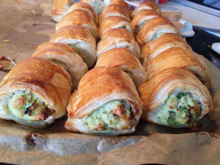 Chicken and feta sausage rolls | Food | Pinterest