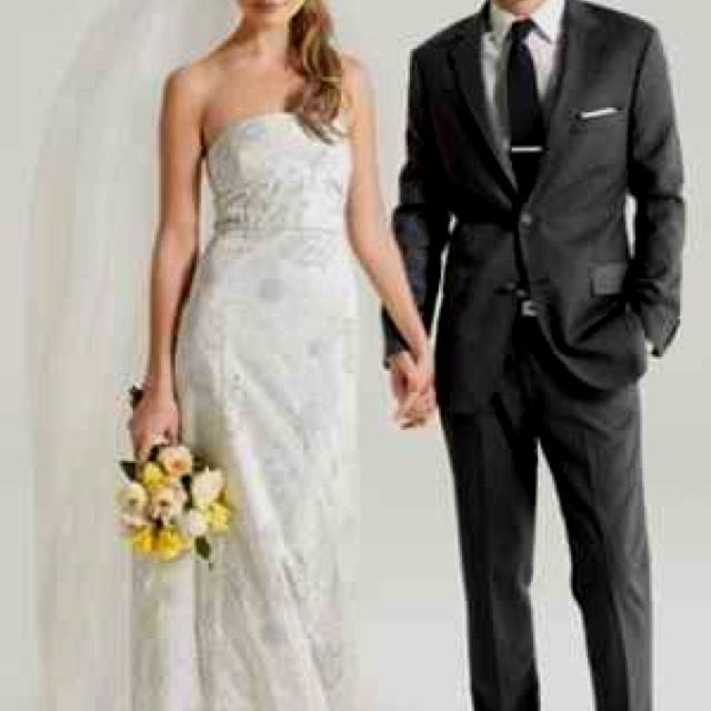 Charcoal grey suit groom