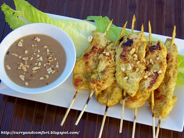 Curry and Comfort: Chicken Satay Skewers with Spicy Thai Peanut ...