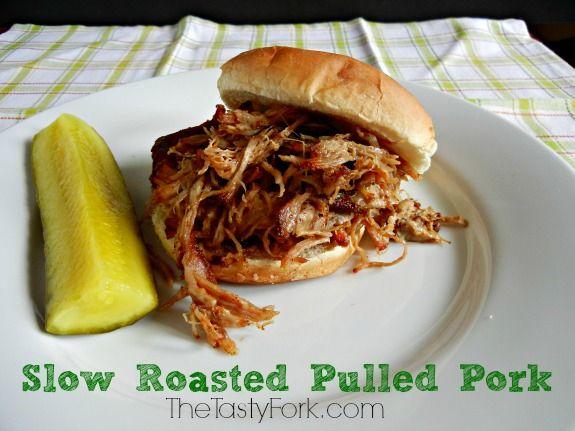 Slow Roasted Pulled Pork. I like this rub recipe, though I usually ...