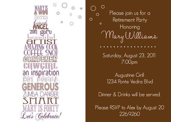 Roast and Toast . Retirement . Milestone Birthday . INVITATION . Desc…