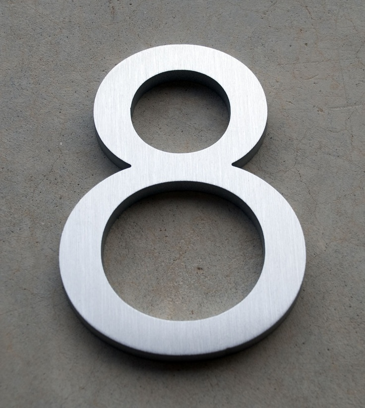 Modern house numbers neutra font remodel ideas pinterest