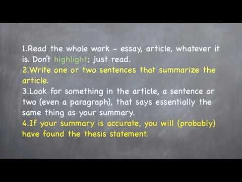 thesis statement in argumentative essays