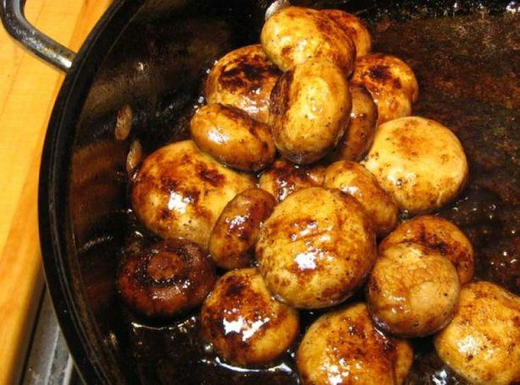 Cajun Glazed Mushrooms | Yummy! | Pinterest