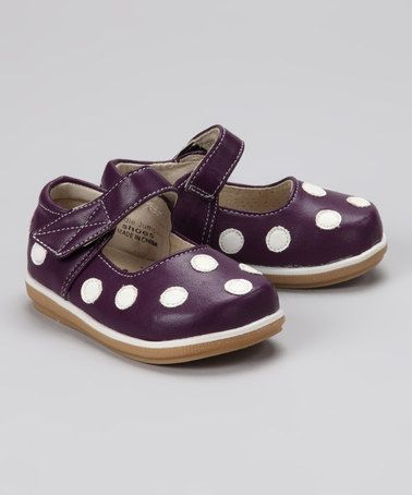 White Polka Dot Mary Jane by Puddle Jumper Shoes on #zulily today