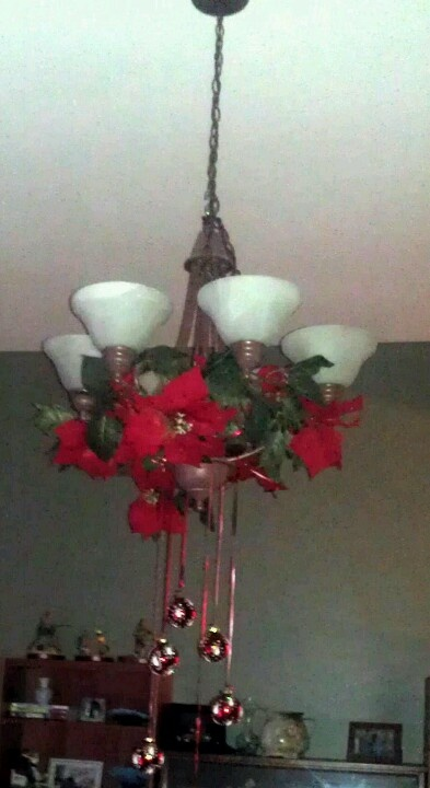 Chandelier christmas decoration craft projects pinterest for Chandelier craft ideas