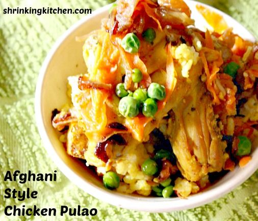 Spice up dinner with this delicious Afghani Style Chicken Pulao!