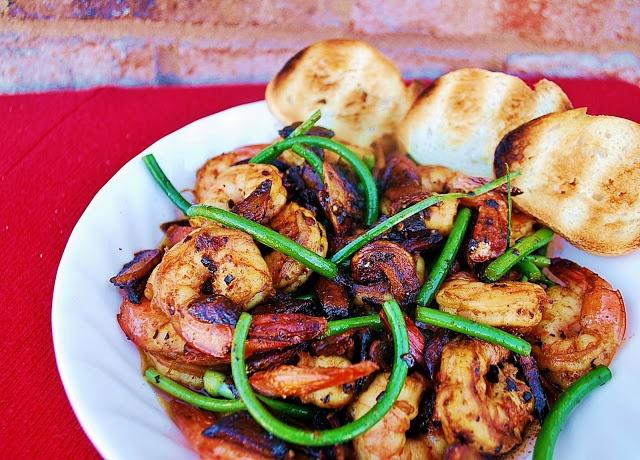 Spicy Whiskey Garlic Shrimp