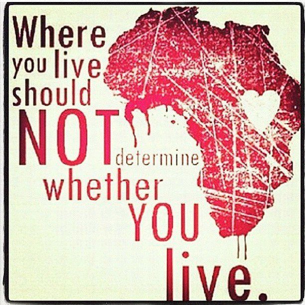 Where you live should not determine whether you live.