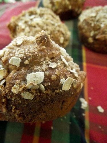 Roasted Banana Muffins with Brown Sugar Topping