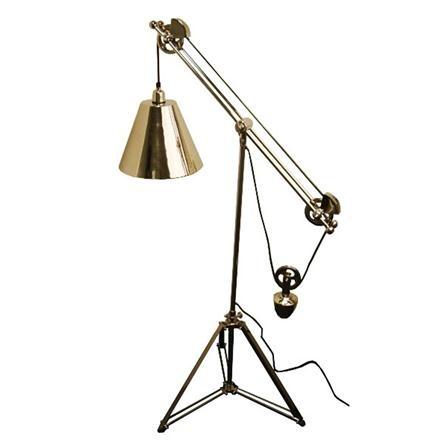 industrial spotlight trolley floor lamp steampunk. Black Bedroom Furniture Sets. Home Design Ideas