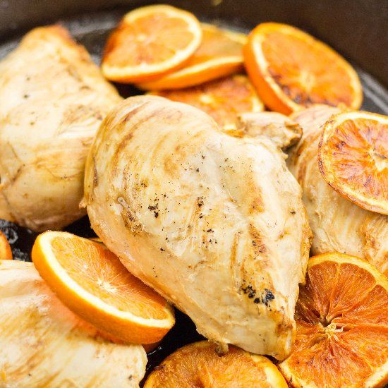 This Orange Roasted Chicken is moist and succulent from the wheat ale ...