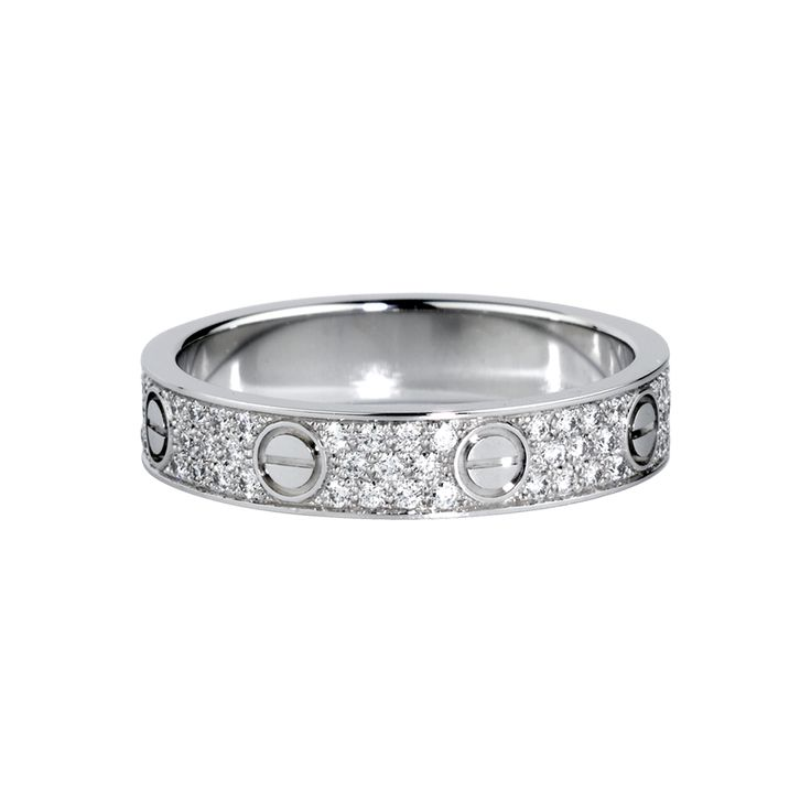 Cartier LOVE wedding band in white golds  diamonds