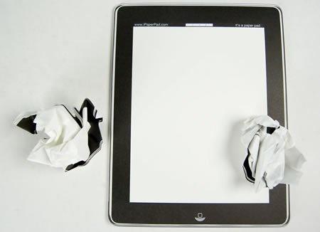 Poor Man's iPad (of paper)