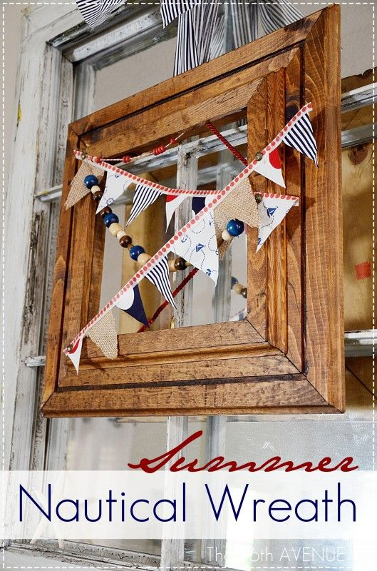 Nautical Summer Wreath by the36thavenue.com  #wreath #summer