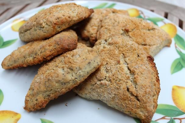 Lemon-Poppy Seed Scones recipe | These tender scones are flaky and ...