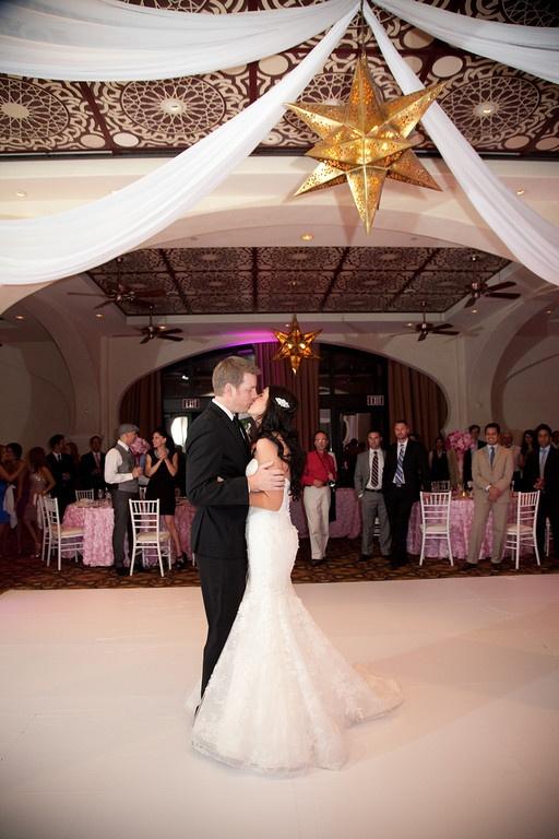 vegas style wedding reception