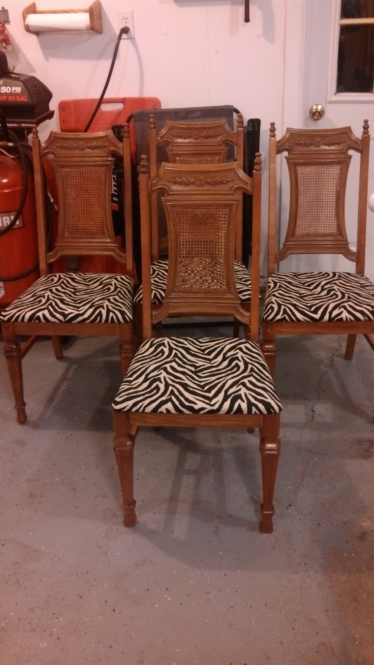 Reupholstered Dining Room Chairs From A 30 Year Old Dining Room Set