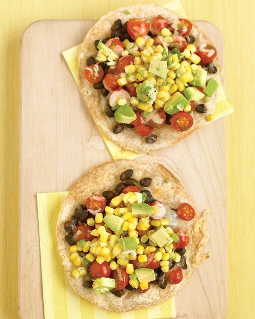 Black-Bean Tostadas with Corn Relish. Generally I don't even Pin ...