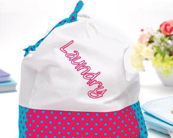 Embroidered Peg Bag and Laundry Tote - Full Project