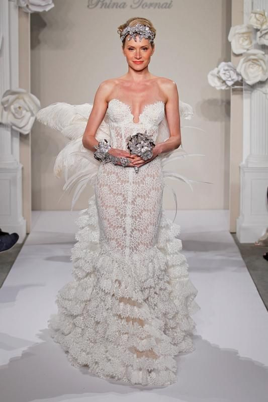 weddinggown designers pnina tornai spring 2013 collection