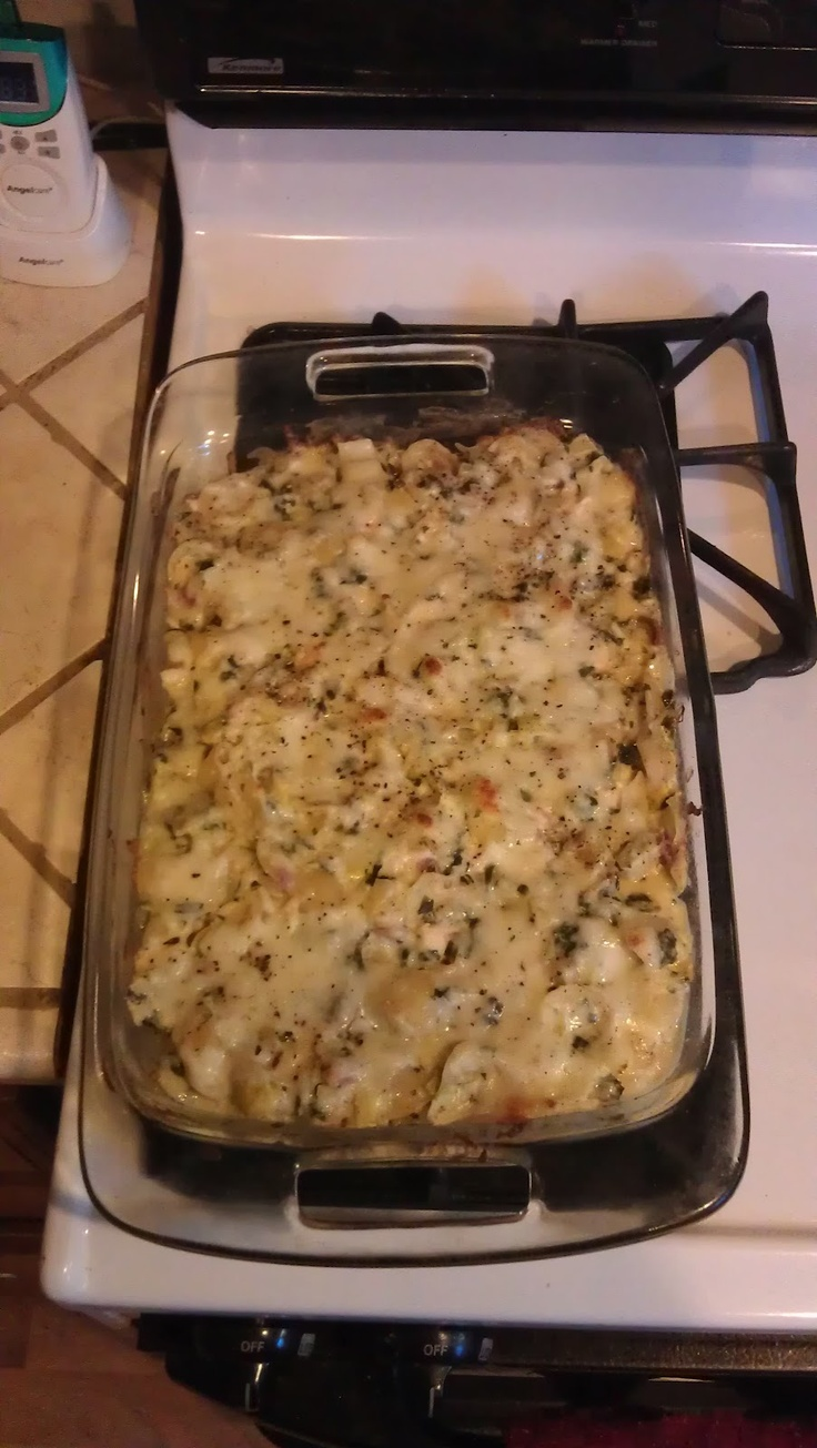 Chicken, artichoke, & spinach casserole, I'm going to try this with ...