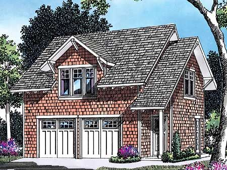 Garage plan with apartment above for Detached garage with apartment above plans