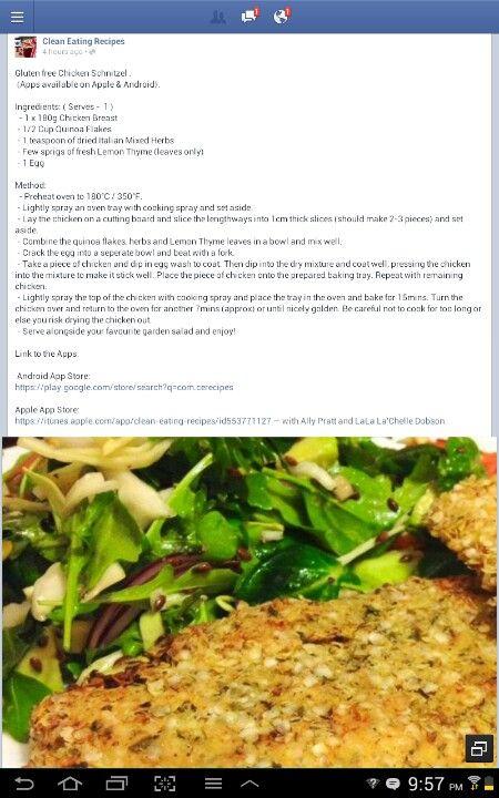 Gluten free chicken schnitzel | Gluten Free Recipes to Try | Pinterest