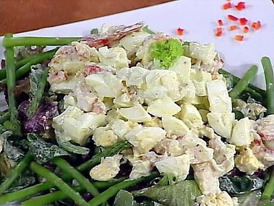 Lobster Salad- Egg and Lobster Salad with Homemade Tarragon Mayonnaise