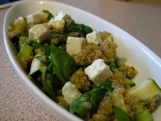 Quinoa Feta Spinach Salad | Diet | Pinterest