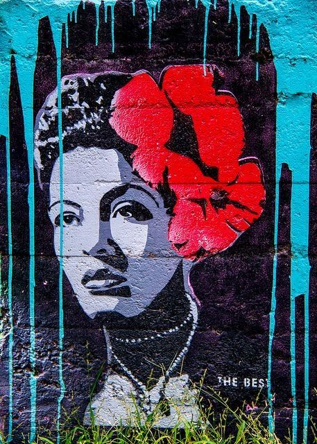 Billie holiday art wild at heart pinterest for Billie holiday mural