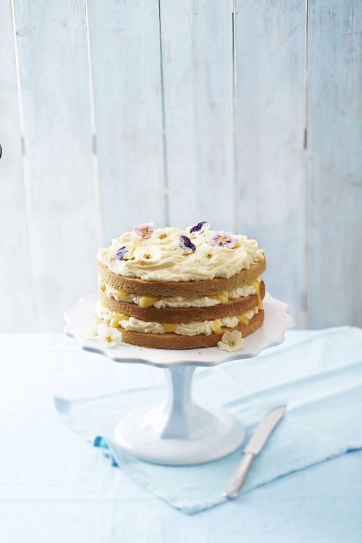 Lemon curd layer cake | CAKE LADY | Pinterest