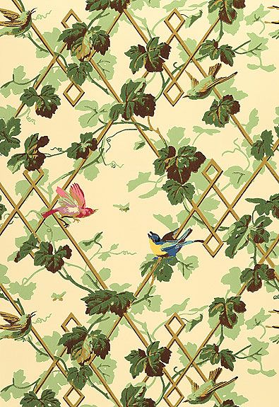 green trellis wallpaper schumacher -#main