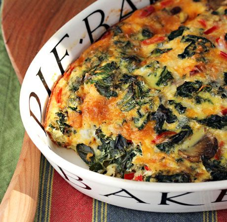 Kale, mushroom and caramelized onion breakfast casserole, from The ...