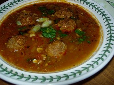 Albondigas Soup, Mexican Meatball Soup. I use ground turkey instead of ...