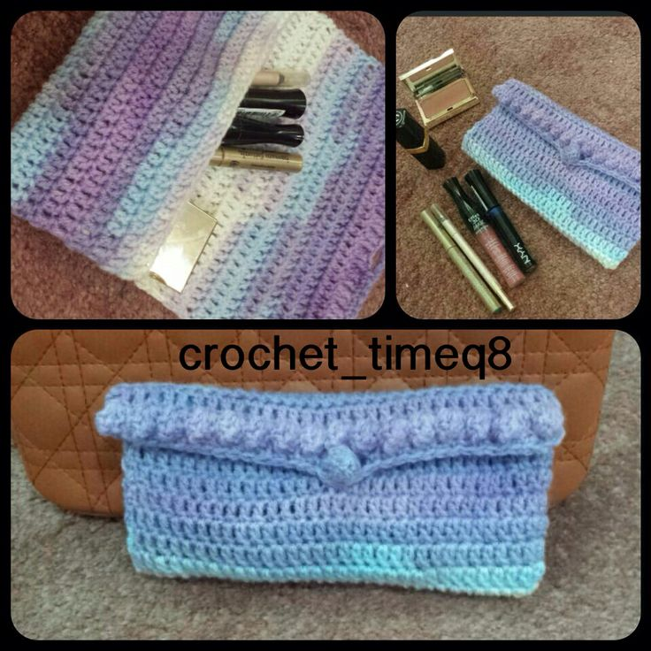Crochet makeup bag Crochet inspiration Pinterest