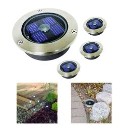 led solar powered garden decking deck lawn lights patio driveway