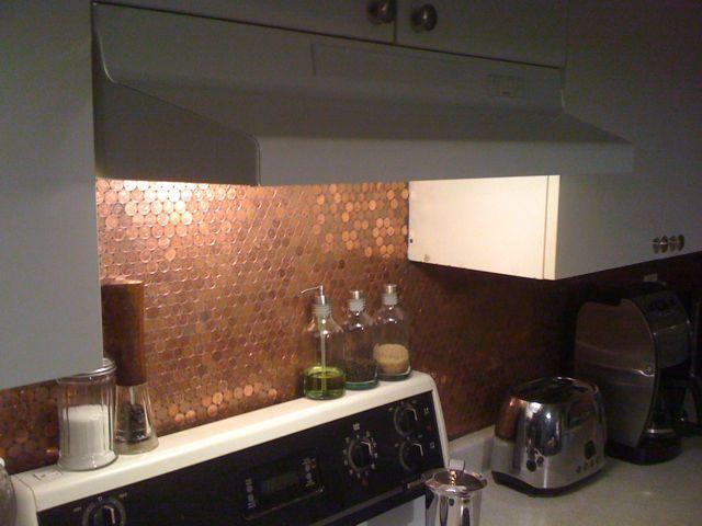 Penny backsplash diy ideas pinterest - Penny tile backsplash images ...