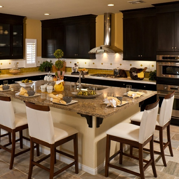 Nice kitchens with an island for Nice kitchen ideas