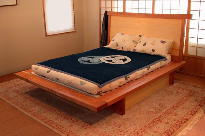 Plane Spoken Furniture Japanese Platform Beds with