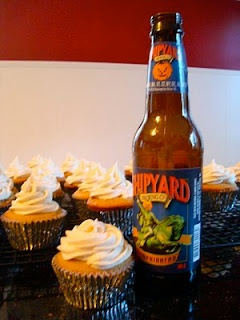 Pumpkin Ale cupcakes, the end all be all of my life. Shipyard ...