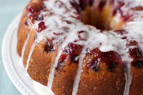 Glazed Cranberry-Lemon Cake | Sinful Desserts - Cake | Pinterest