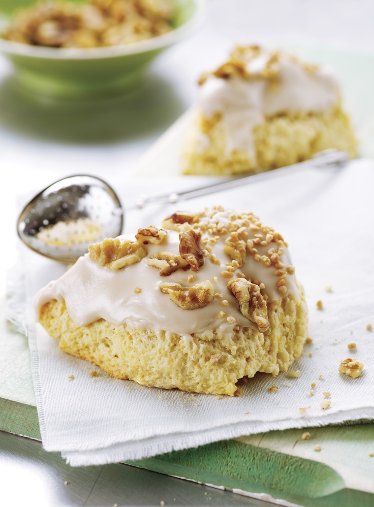 Maple Walnut & Brown Sugar Scones | For the Love of ... Baking! | Pin ...