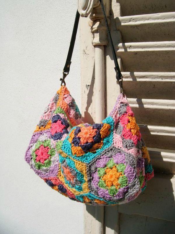Crochet Hexagon Bag : Pretty Hexagon Handbag! Crocheted Bags, Purses & Totes Pi...