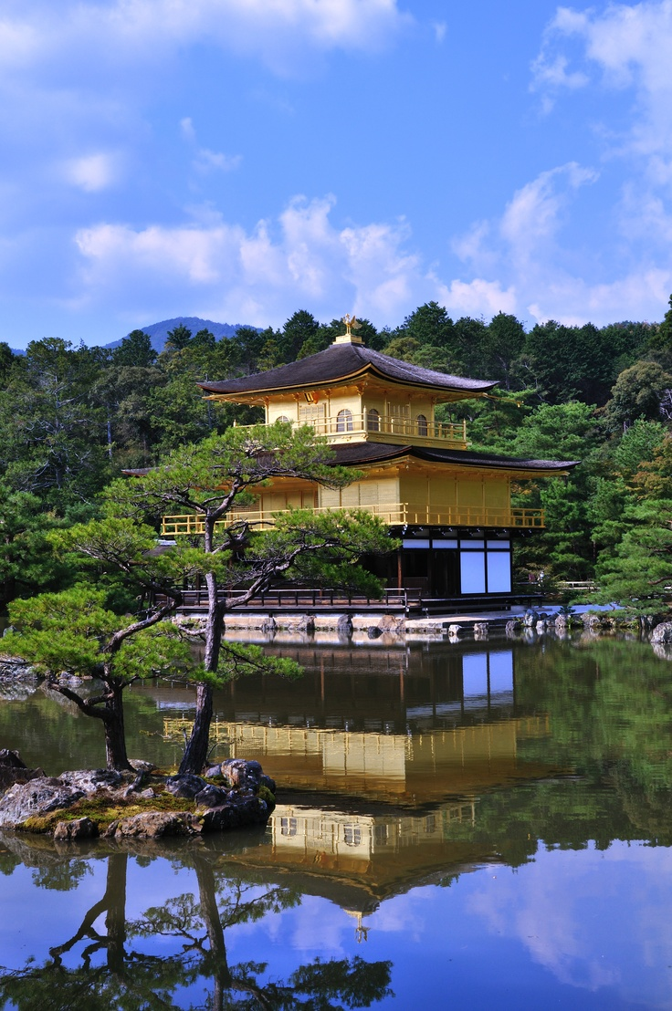 Kinkakuji temple, Kyoto  One Day Ill Fly Away  Pinterest
