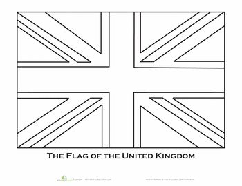British flag coloring page girl scouts pinterest for Uk flag coloring page