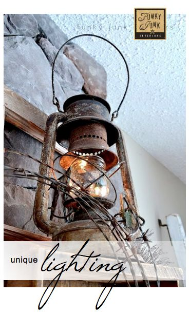 100+ UNIQUE LIGHTING IDEAS - themed link party that's always open! via Funky Junk Interiors